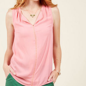 Modcloth Pink Podcast Co-Host Sleeveless Top